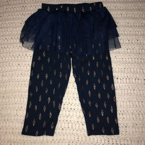 Other - Gold and navy tutu pants